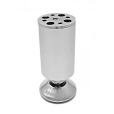 Опора мебельная регулируемая 001А (50*120) алюминий матовый хром