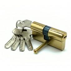 Механизм цилиндровый F5 золото (60мм, 5 ключей) латунь/металл, профильный ключ SOLLER Cu.С