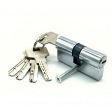 Механизм цилиндровый F5 хром (60мм, 5 ключей) латунь/металл, профильный ключ SOLLER Cu.С