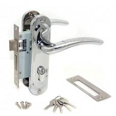 Замок врезной 50/106CP с ручками на планке ключ-ключ хром ЦМ