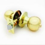 Ручка-защелка /кноб/ межкомнатная без ключа с фиксатором ЗШ-03 Эконом ВКSB матовое золото