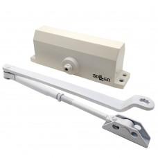 Доводчик дверной №501 (80-100кг) белый