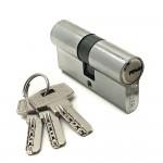 Механизм цилиндровый F3 хром (60мм, 3 ключа) латунь/металл, профильный ключ SOLLER Cu.С