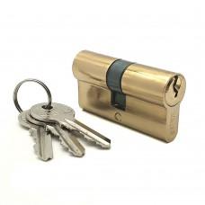 Механизм цилиндровый F3 золото (60мм, 3 ключа) латунь/металл SOLLER Cu.S