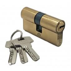 Механизм цилиндровый F3 золото (60мм, 3 ключа) латунь/металл, профильный ключ SOLLER Cu.С