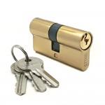 Механизм цилиндровый F3 золото (60мм, 3 ключа) Zn.S SOLLER