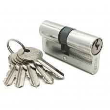 Механизм цилиндровый F5 хром (60мм, 5 ключей) латунь/металл SOLLER Cu.S.