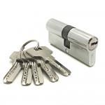Механизм цилиндровый F5 хром (70мм, 5 ключей) латунь/металл, профильный ключ SOLLER Cu.С