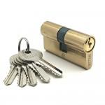 Механизм цилиндровый F5 золото (60мм, 5 ключей) латунь/металл SOLLER Cu.S.