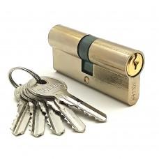 Механизм цилиндровый F5 золото (70мм, 5 ключей) латунь/металл SOLLER Cu.S.