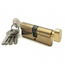 Механизм цилиндровый FV5 золото (70мм, 5 ключа) ключ/вертушка, латунь/металл SOLLER