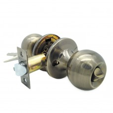 Ручка-защелка /кноб/ межкомнатная с ключем и фиксатором ЗШ-01 ETAB бронза
