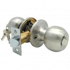 Ручка-защелка /кноб/ межкомнатная с ключем и фиксатором ЗШ-01 ETSN никель