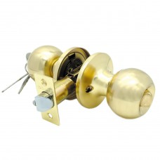 Ручка-защелка /кноб/ межкомнатная с ключем и фиксатором ЗШ-01 ETSB матовое золото