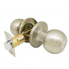Ручка-защелка /кноб/ межкомнатная без ключа и фиксатора ЗШ-05 BKPS SN никель