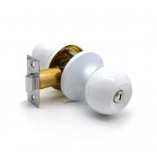 Ручка-защелка /кноб/ межкомнатная без ключа с фиксатором ЗШ-03 Эконом ВКWW белая