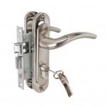 Замок врезной 50/106SN с ручками на планке ключ-ключ никель ЦМ