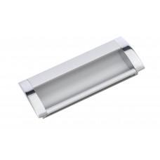 Ручка мебельная 8020-96 хром/матовый хром  врезная