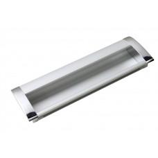 Ручка мебельная 8020-128 хром/матовый хром  врезная