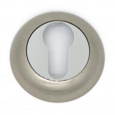 Накладка на цилиндровый механизм ET-02 CP/SS SOLLER хром/сатин /100/