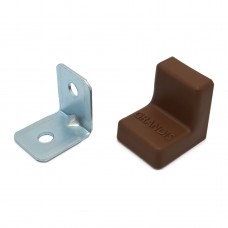 Уголок мебельный металл+ пластик 20*20 Орех