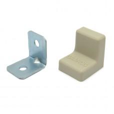 Уголок мебельный металл+ пластик 20*20 Ясень