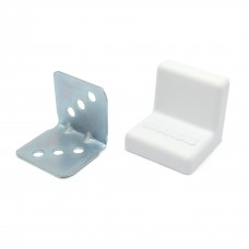 Уголок мебельный металл+ пластик 25*25 Белый