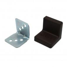 Уголок мебельный металл+ пластик 25*25 Венге