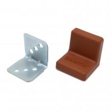 Уголок мебельный металл+ пластик 25*25 Вишня