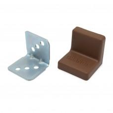 Уголок мебельный металл+ пластик 25*25 Орех