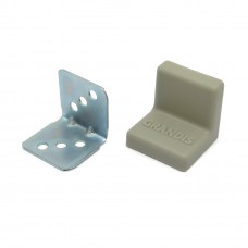 Уголок мебельный металл+ пластик 25*25 Серый