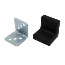 Уголок мебельный металл+ пластик 25*25 Черный
