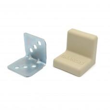 Уголок мебельный металл+ пластик 25*25 Ясень