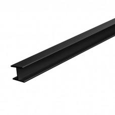 Планка д/панелей  6мм 600мм  щелевая, черная
