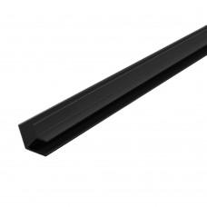 """Планка д/панелей """"Союз"""" 4мм 600мм  угловая, черная"""