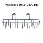 Полка прямоугольная корзина, 1 ярус, хром ПКП-1