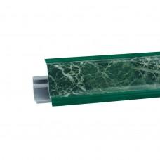 """Плинтус для столешницы 3м пластиковый """"Мрамор зеленый"""" LB-23-0-626"""