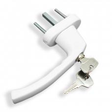 Ручка оконная с ключом, белая (SWH35.8)