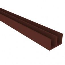 Профиль направляющий Ш-образный 2м (коричневый) 276