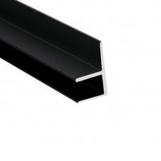 """Планка д/панелей """"Союз"""" 6мм 600мм  угловая (внутренний 90*) F-образна, черная"""