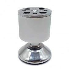Опора мебельная регулируемая 001А (50*80) алюминий, матовый хром