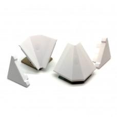 Комплект заглушек (Престиж) для плинтуса белый
