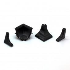 Комплект заглушек для плинтуса, черный 15-619
