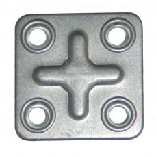 Пластина крепеж ПК 37*37*1,2 цинк