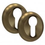 Накладка на цилиндровый механизм ET-02 AB SOLLER бронза /100/