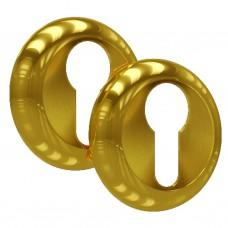 Накладка на цилиндровый механизм ET-02 PB SOLLER золото /100/