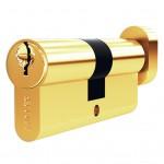 Механизм цилиндровый FV5 золото (60мм, 5 ключа) ключ/вертушка, латунь/металл SOLLER