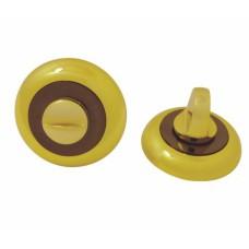 Завертка дверная для ванных комнат BK BN/GP SOLLER графит/золото /100/