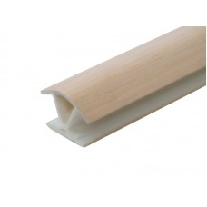 Профиль соед. внутр 135* для цоколя 100мм дуб беленый