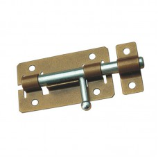 Задвижка дверная ЗД-01 пол.бронза